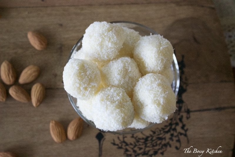 Homemade Raffaello Coconut Almond Confections - Perfect for your White Christmas