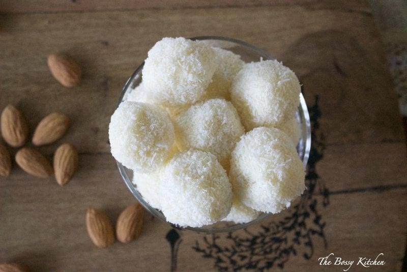 Homemade Raffaello Coconut Almond Confections - Perfect for your White Christmas
