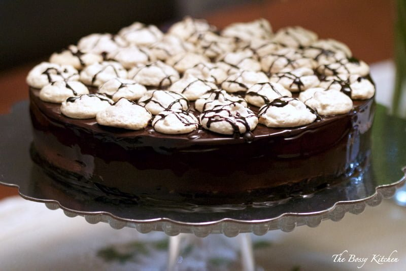 Cake with Dark chocolate Mousse5