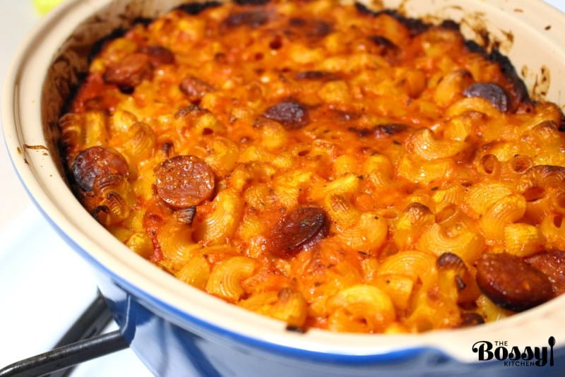 Cheesy Chorizo And Tomato Baked Pasta2