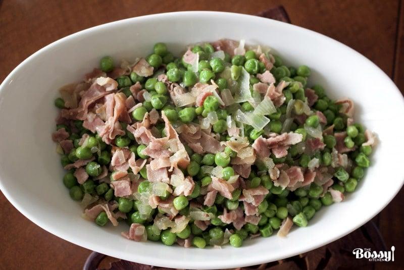 Easy Green Peas With Ham- Spanish Recipe
