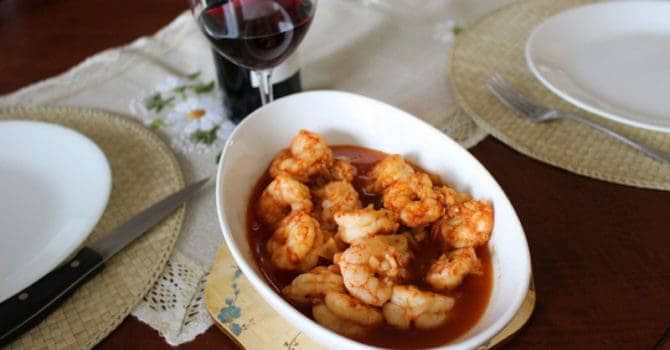 Sizzling Chili Shrimp-Spanish Recipe