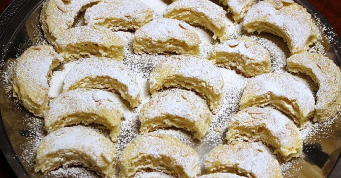 Kossuth Kifli Or Half Moon Cookies