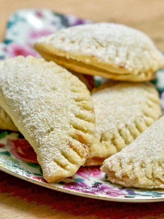 Pie Crust Mini Turnover Cookies