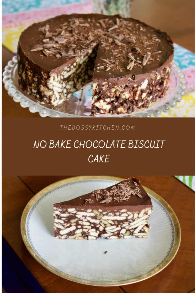 No Bake Chocolate Biscuit Cake 2