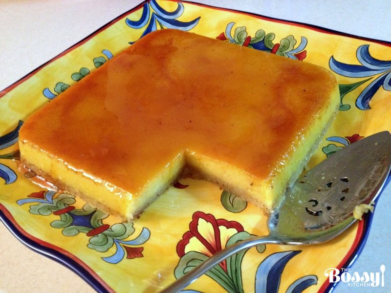 Orange-Almond Flan- beautiful recipe of a Spanish dessert. The layers of almond cake, custard and caramel are separated magically in the oven while baking. This dessert is suitable for entertaining, during the holidays, like Easter or Chistmas or Sunday dinners with friends and family. It is also a gluten free recipe.