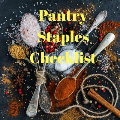 Pantry Staples Checklist