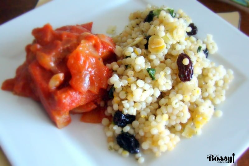 Pearl Couscous With Almonds And Raisins