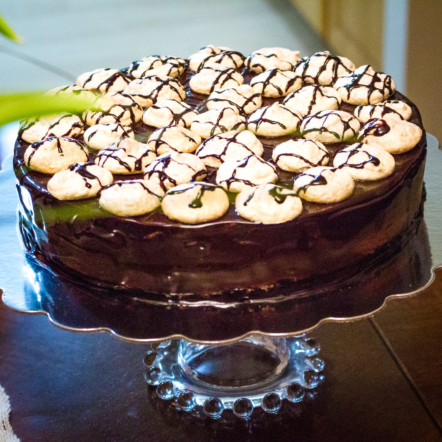 This Walnut Meringue Cake With Dark Chocolate Mousse is a decadent, elegant and delicious cake that will win your heart for ever. This cake is called an entremet and it is one of the best cakes I ever had. The layers of meringue and chocolate mousse are easy to make and the results are fabulous! Enjoy!