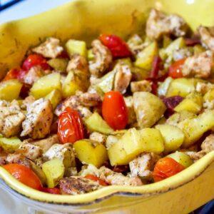 Baked Potatoes Chicken and Spanish Chorizo 1