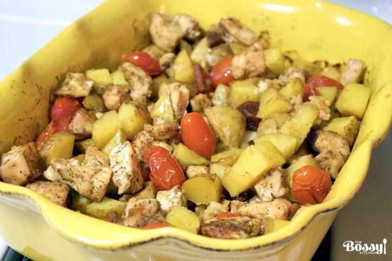 Baked Potatoes, Chicken and Spanish Chorizo