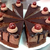 Chocolate Cake With Tart Cherries