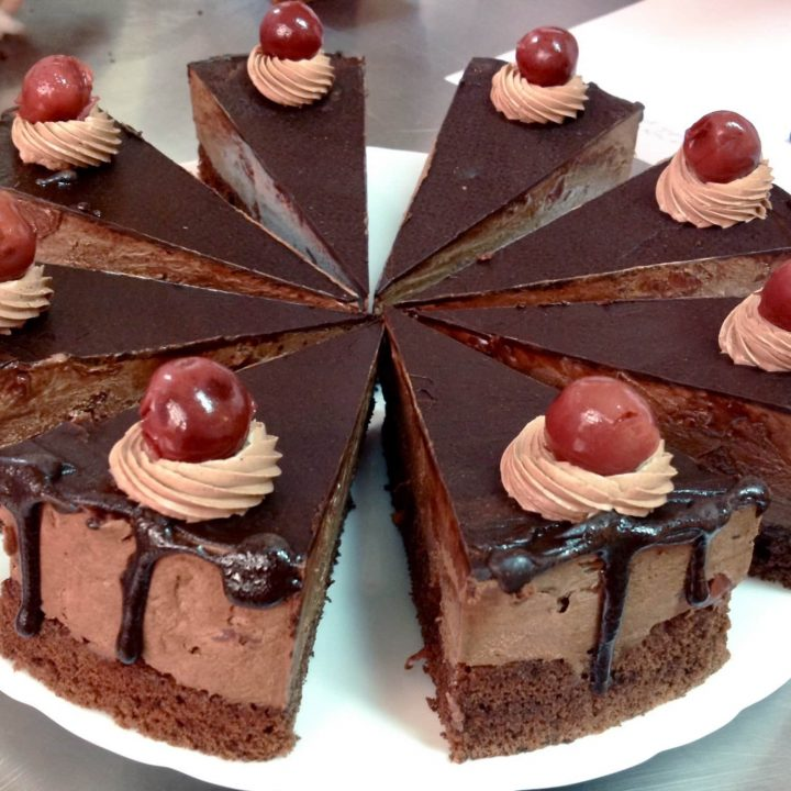 Chocolate Cake With Tart Cherries