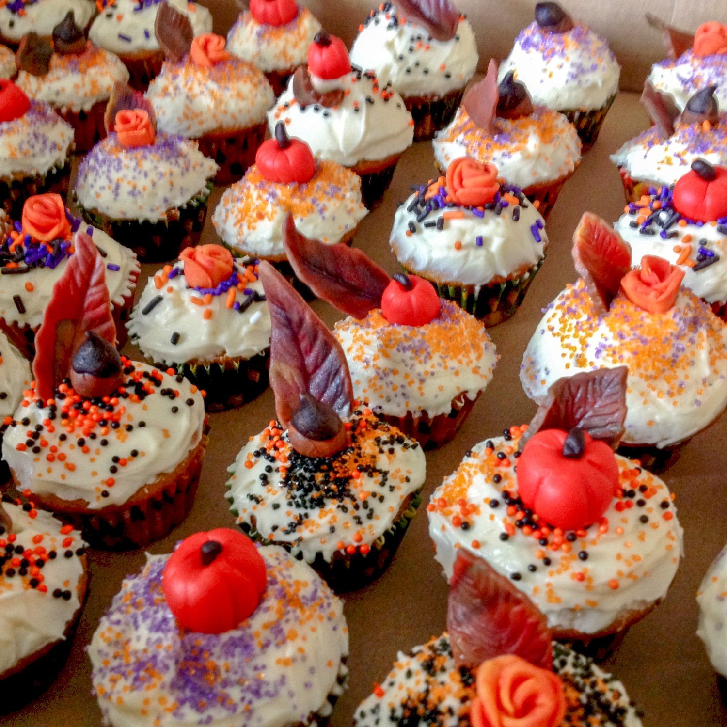 """This is a delicious recipe for Easy Cream Cheese Frosted Pumpkin Cupcakes. A """"must have"""" dessert during """"everything pumpkin"""" season!"""