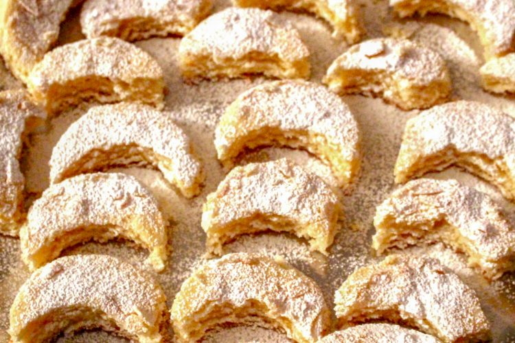 Kossuth Kifli or Half Moon Cookies