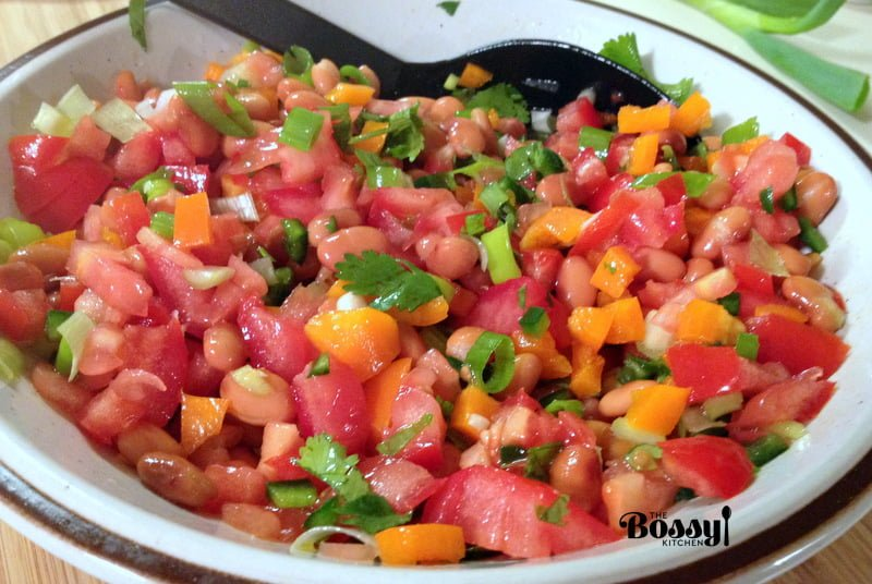 Mexican Pinto Bean Salad with Jalapeño Pepper – The Bossy Kitchen