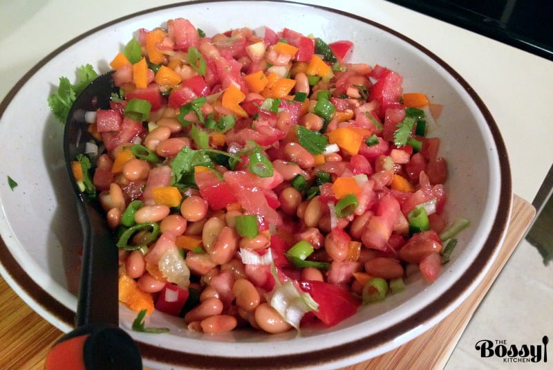 Mexican Pinto Bean Salad with Jalapeño Pepper