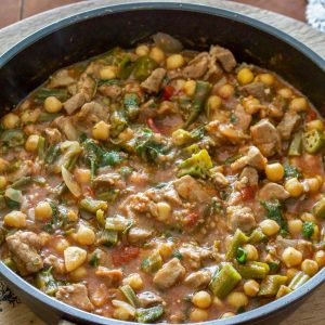 Okra with Chickpeas and Pork 2