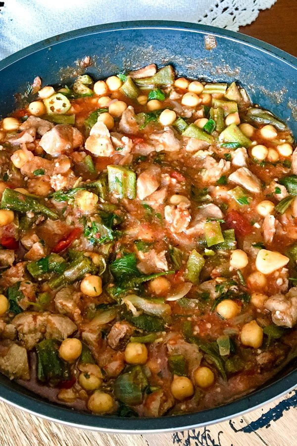 Okra with Chickpeas and Pork0