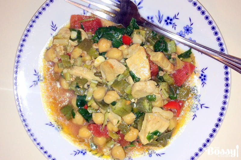 Okra with Chickpeas and Pork7 1