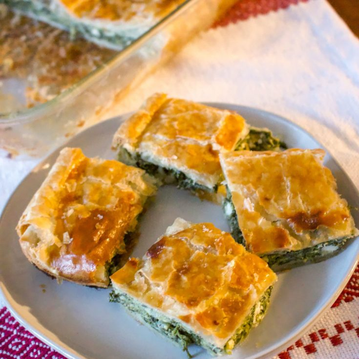 Romanian Spinach And Feta Cheese Pie