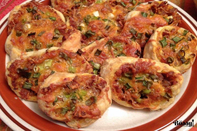 Sausage Pumpkin Pinwheels Appetizers