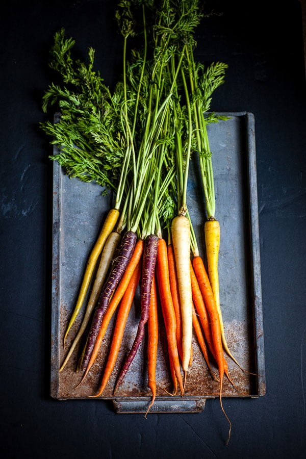 Beautiful, easy recipe of Roasted Carrots- perfect for entertainment. Pair it with any kind of meat and add a green salad to it. Delicious!