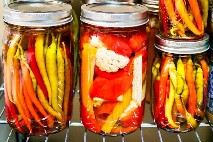 How to preserve hot peppers in vinegar- A Romanian recipe that comes from the old times, these hot peppers preserved this way last many years in the jars. This is probably one of the easiest recipe out there.We consume the hot peppers in winter with soups and stews. Delicious and super easy to make.