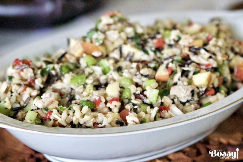 Brown and Wild Rice Salad with Chicken, Apples and Walnuts ...