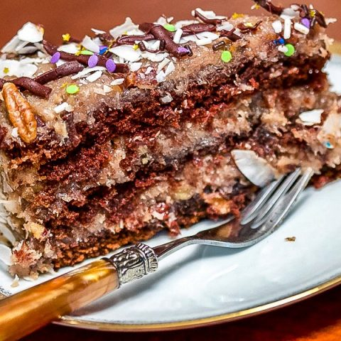 Decadent German Chocolate Cake0