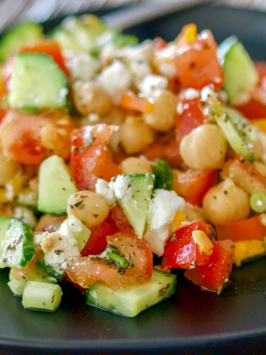 Easy Chopped Chickpea Salad With Feta And Mint10