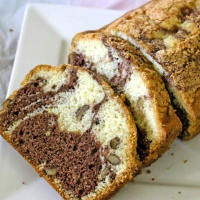 Easy Marbled Pound Cake Recipe