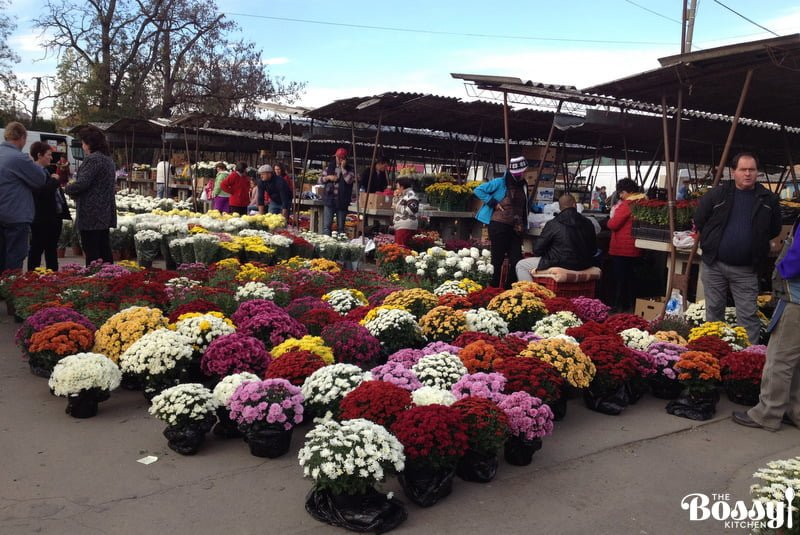 Flowers at farmers' market