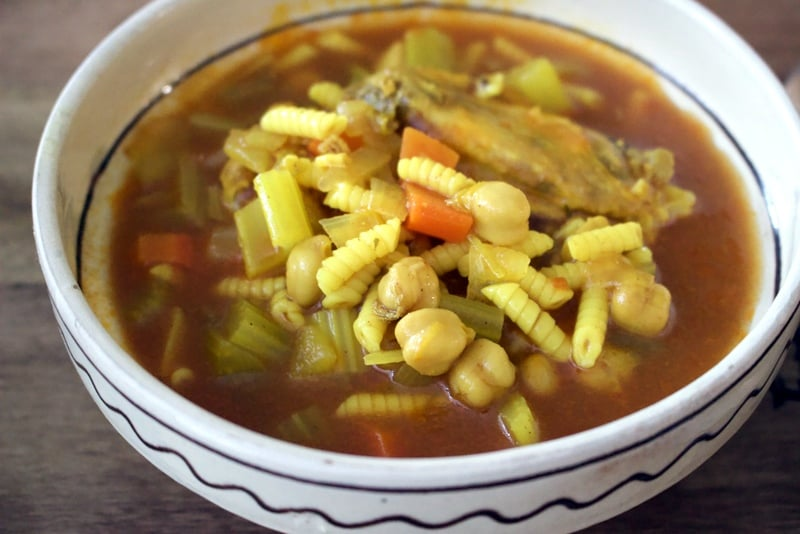 Moroccan Chicken Soup With Chickpeas