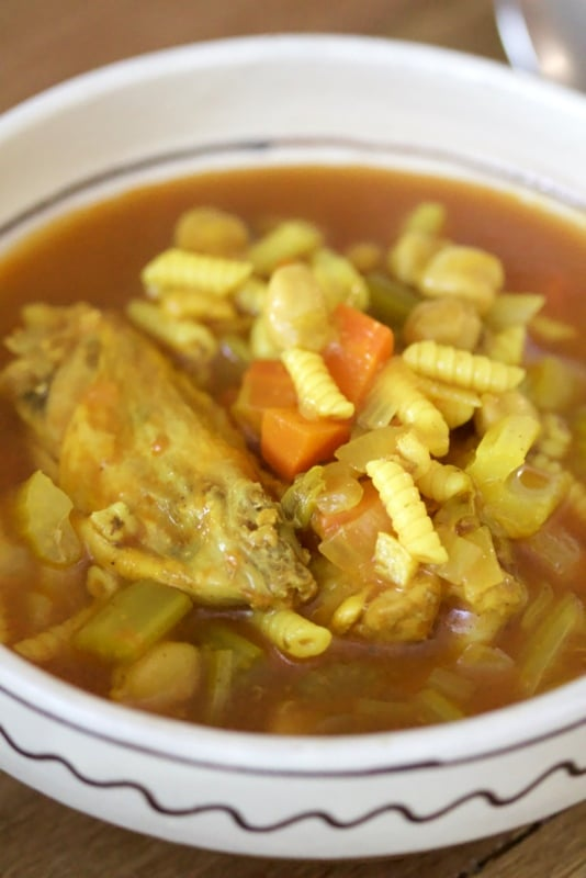 Moroccan Chicken Soup With Chickpeas4
