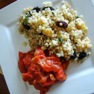 Pearl Couscous With Almonds And Raisins11