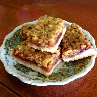 Walnut and Rose Hip Jam Bars -Hungarian Londoni Szelet
