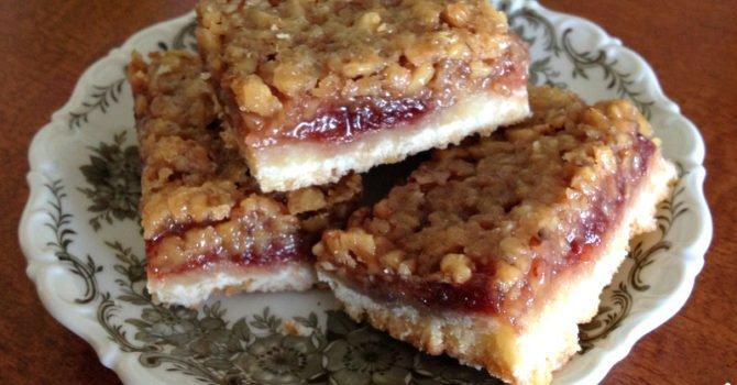 Walnut And Rose Hip Jam Bars