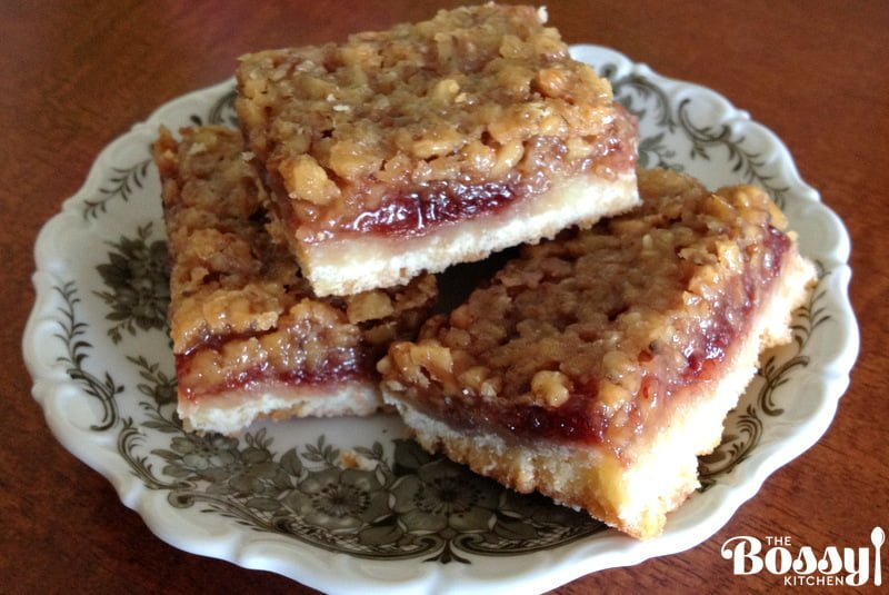 Walnut and Rose Hip Jam Bars – The Bossy Kitchen