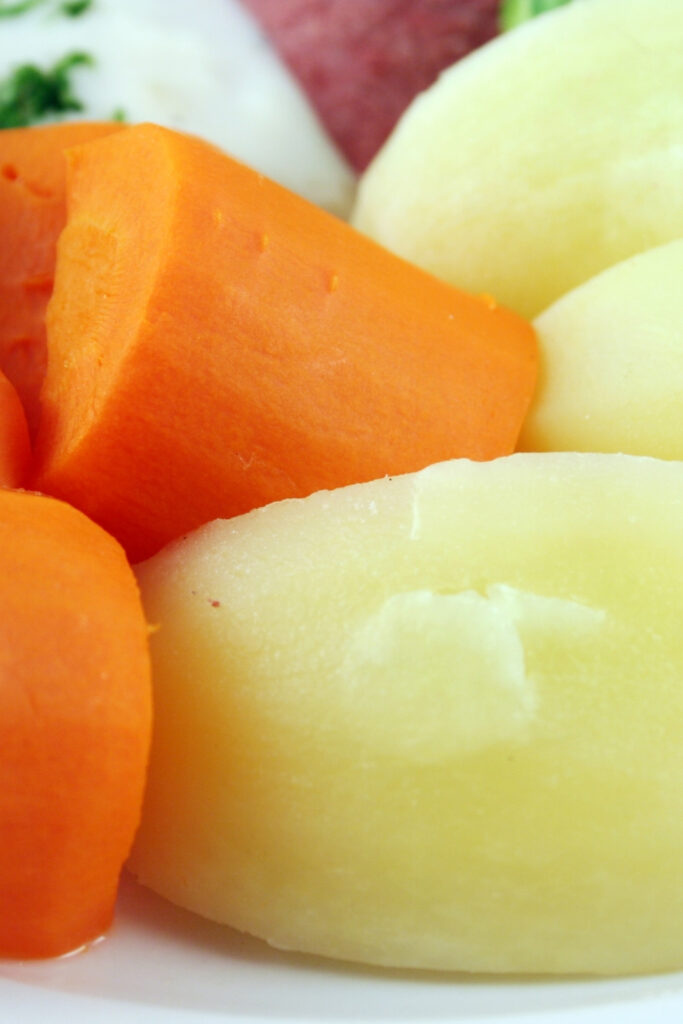 cooked carrots and potatoes