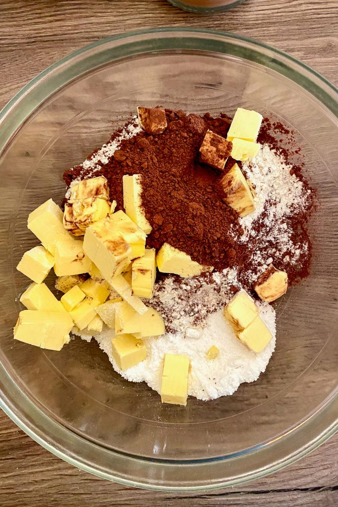 ingredients for the chocolate tart crust