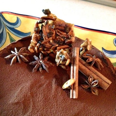 Chocolate tart with star anise and cinnamon 1
