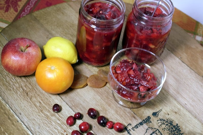 Cranberry Chutney With Apples