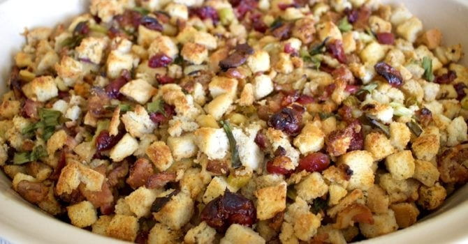 Easy Sausage, Cranberries And Walnuts Stuffing