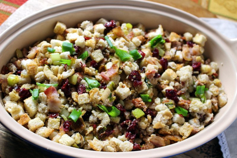 Are you ready for the holidays cooking? Here you have a great, easy sausage, cranberries and walnuts stuffing recipe. Enjoy!
