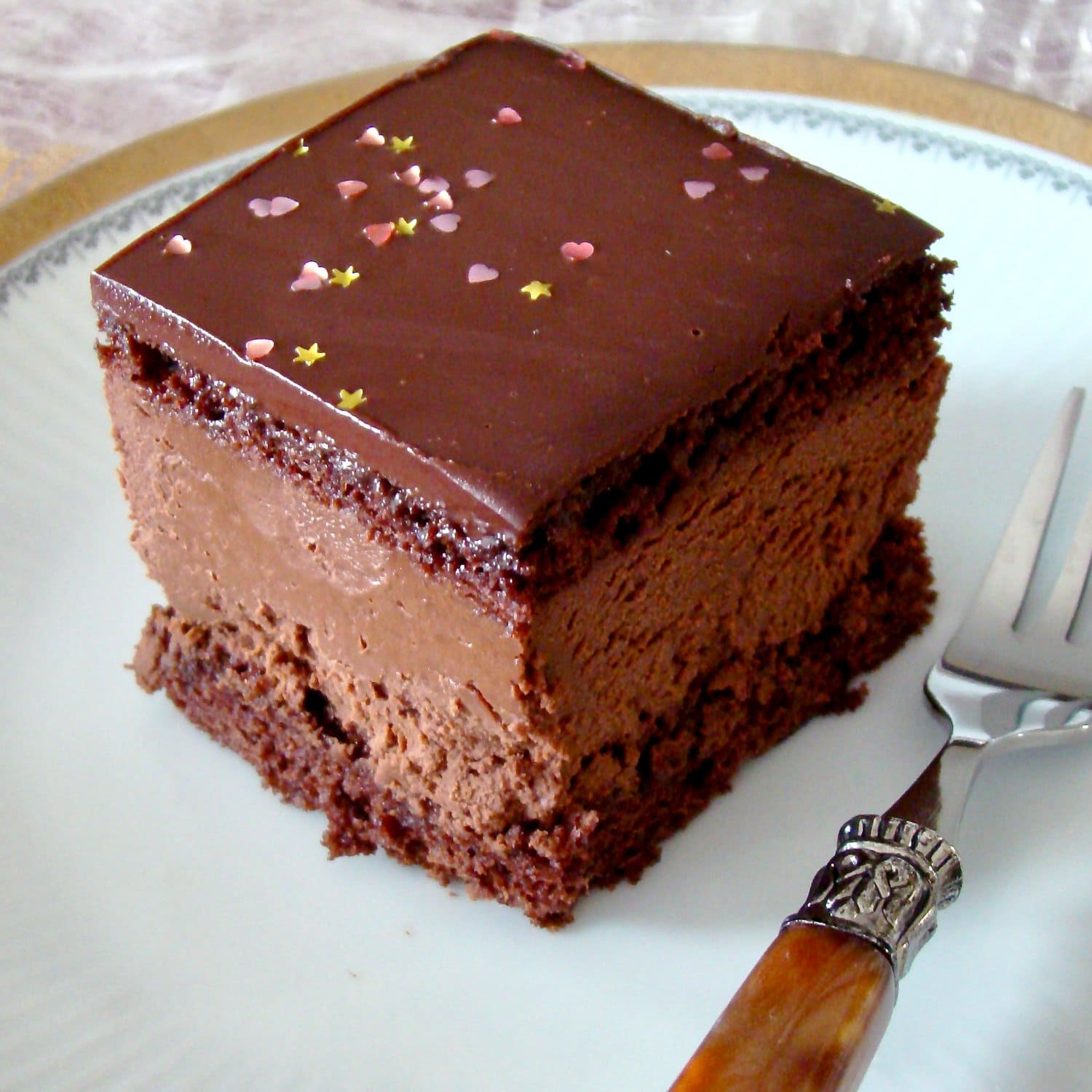 Hungarian Decadent Chocolate Cake- inspired from the original recipe of Rigo Jancsi Cake, an elegant dessert from 19th century in Austro Hungarian Empire.