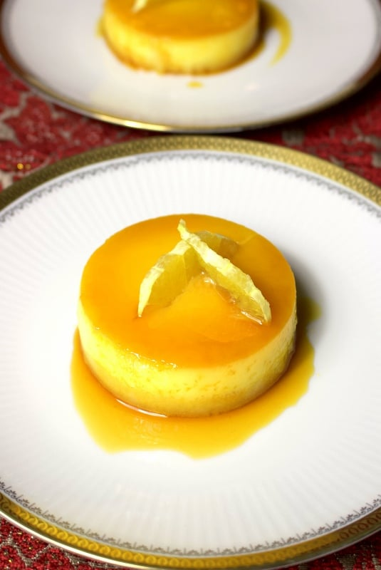 Orange-Almond Flan-featured picture