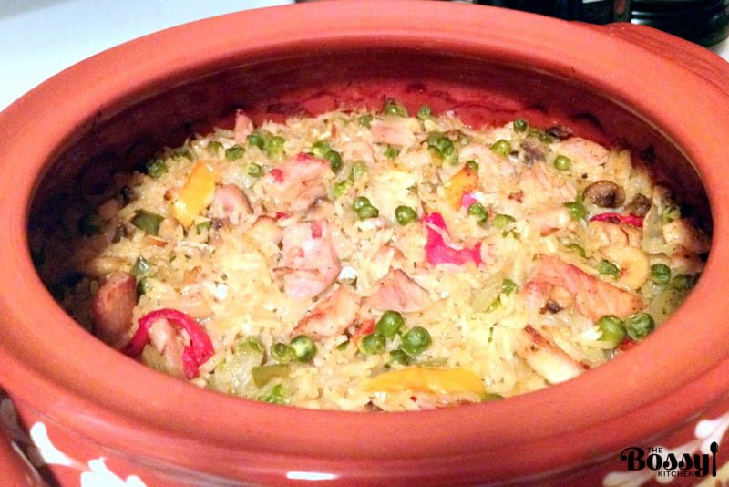 Rice Pilaf with Pork and Vegetables 2