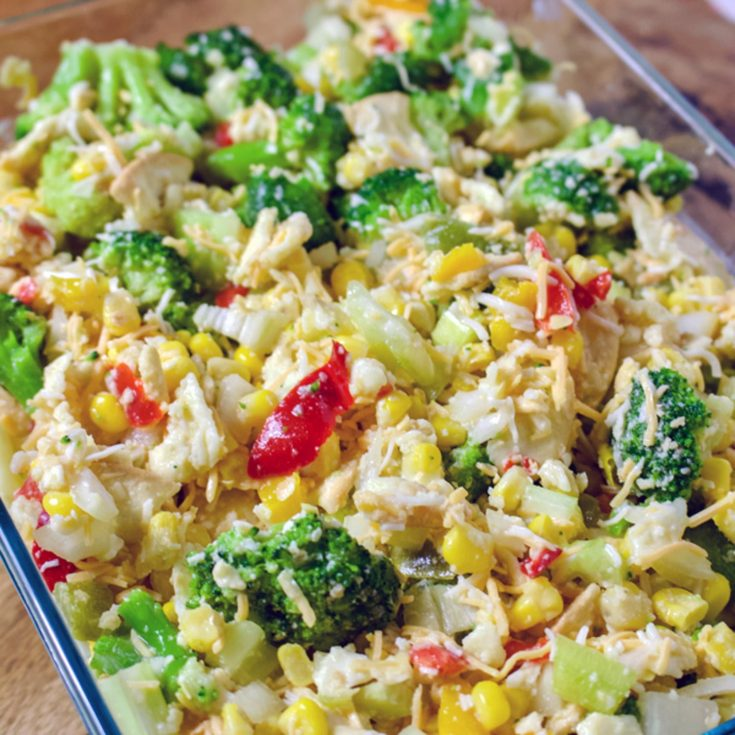 Scalloped Corn with Vegetables