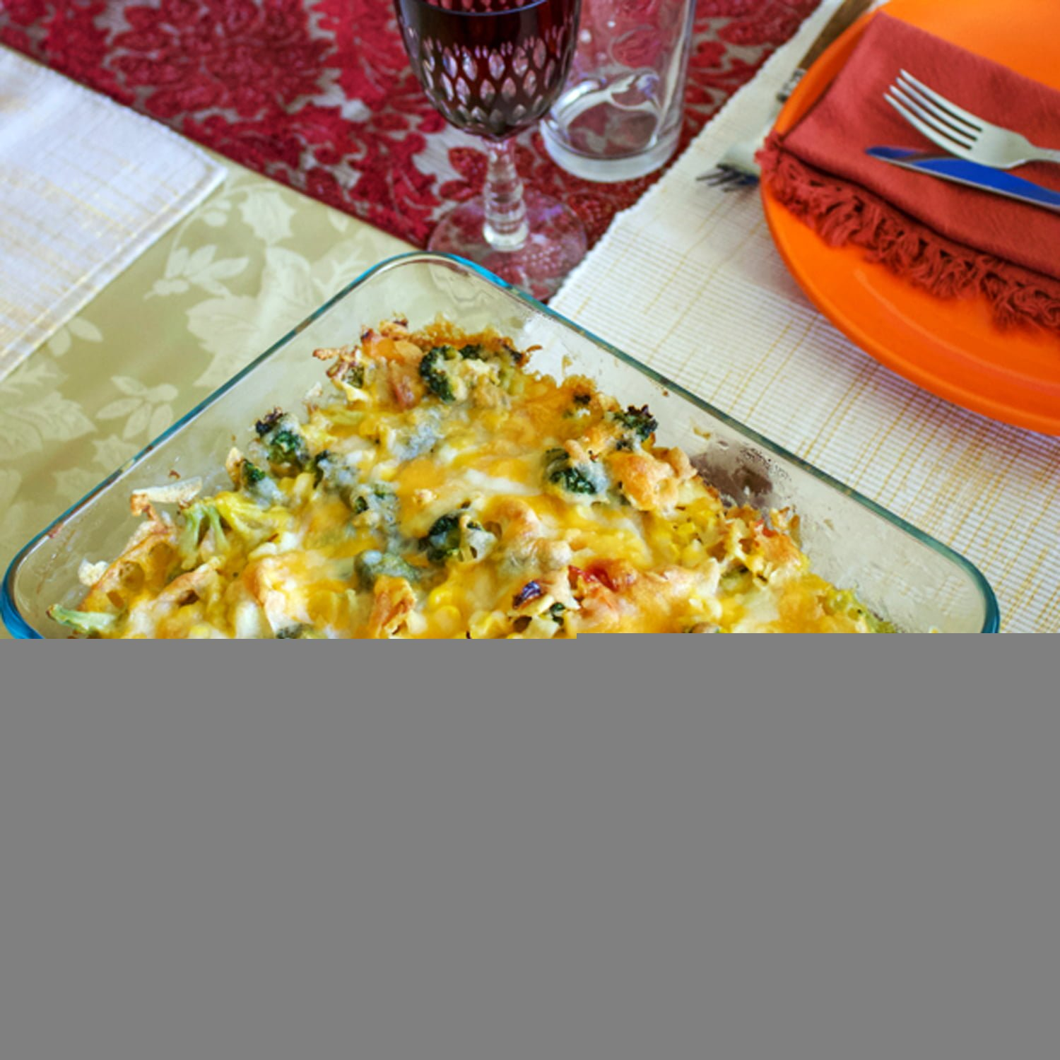 Scalloped Corn with vegetables is my favorite recipe for Thanksgiving. Very easy to put together and delicious, this recipe is perfect for the holidays.